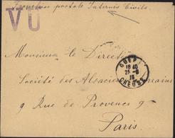 Guerre 14 FM CAD Gueret Creuse 25 8 15 Censure Grand VU Franchise Postal Internés Civils Alsace Lorraine - Marcophilie (Lettres)