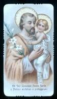 VECCHIO SANTINO  -  S. GIUSEPPE CON GESU BAMBINO - HOLY CARD ( H219 ) - Devotieprenten