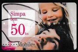 Croatia 2010 / T Mobile / Pre Paid Phone Voucher / Used Simpa Bon 50 Kn - Croatia