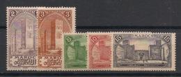 Maroc - 1917 - N°Yv. 64 à 68 - 5 Valeurs - Rabat / Fès - Neuf Luxe ** / MNH / Postfrisch - Maroc (1891-1956)