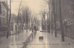 Hauts-de-Seine - Asnières - Les Inondations De Janvier 1910 - La Rue De Bretagne - Asnieres Sur Seine