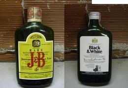 2 Bottiglie Whisky Formato Tascabile (20 Cl) - Anni 70 - Licor Espirituoso