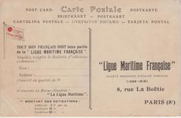 """CPA Publicité """"Ligue Maritime Française"""" Rue De La Boëtie - Paris Sur CP Paquebot-Poste """"Ville D'Alger"""" (C. G. T.) - Pubblicitari"""