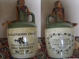 Bottiglia Whisky Tullamore Dew In Ceramica, 75 Cl, Periodo Anni 70 - Spiritus