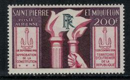 St.Pierre Et Miquelon // 1959 //  Poste Aérienne No.26 Y&T  Timbres Neufs ** MNH (sans Charnière) - Poste Aérienne