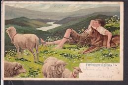 Künstlerpostkarte Mailick  , Ostern  1906 - Mailick, Alfred