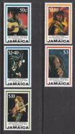 1995 Jamaica Bob Marley Reggae Music   Complete Set Of 5 MNH - Jamaica (1962-...)