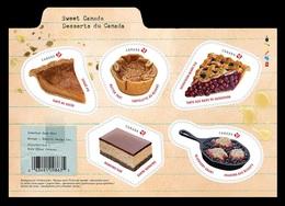 Canada 2019 Mih. 3721/25 (Bl.286) Gastronomy. Sweet Canada. Desserts MNH ** - 1952-.... Reinado De Elizabeth II