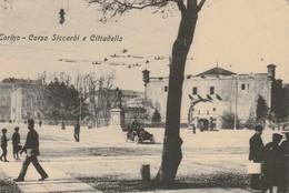 CARTOLINA: TORINO - CORSO SICCARDI E CITTADELLA (MOVIMENTATA) - F/P - B/N - VIAGGIATA - LEGGI - Education, Schools And Universities