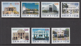 2008 Jamaica  Buildings Definitives REPRINTS  Complete Set Of 7 MNH - Jamaica (1962-...)