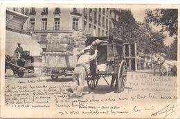 PARIS Vécu Dans La Rue 1904 Adressée Gien Loiret Chez Mr Parrou Chemisier / Cachet LE NEUDRE Allier - France