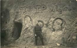 CARTE PHOTO OULCHY LE CHATEAU DANS UNE BOVE ROUTE DE BRENY 79 E TP ALGERIE - France
