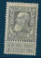 MW-1892  OCB  78 * - 1905 Grosse Barbe