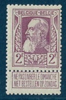 MW-1894  OCB  80 * - 1905 Grosse Barbe