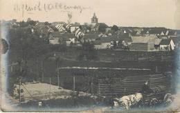HEFTRICH (Allemagne) - Carte Photo - Vue D'ensemble De La Ville - Attelage De Boeufs - Animée - Idstein