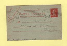 Krag - Paris RP Distribution (au Depart) - 7 Lignes Droites Inegales + Bloc Dateur 4 Lignes - Postmark Collection (Covers)