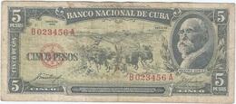 Cuba 5 Pesos 1958 Pk 91 A Ref 42 - Cuba