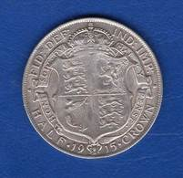 Uk  1/2 Crown  1915 - K. 1/2 Crown