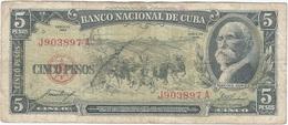 Cuba 5 Pesos 1958 Pk 91 A Ref 609-33 - Cuba