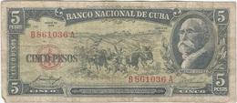 Cuba 5 Pesos 1958 Pk 91 A Ref 44 - Cuba