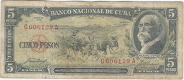 Cuba 5 Pesos 1958 Pk 91 A Ref 45 - Cuba
