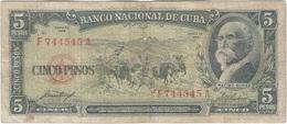 Cuba 5 Pesos 1958 Pk 91 A Ref 46 - Cuba