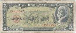 Cuba 5 Pesos 1958 Pk 91 A Ref 609-8 - Cuba