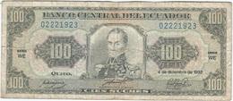 Ecuador 100 Sucres 4-12-1992 Pk 123 A.b.WE Ref 4 - Ecuador