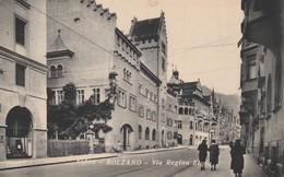 CARTOLINA: BOLZANO - VIA REGINA ELENA (MOVIMENTATA) - F/P - B/N - VIAGGIATA - LEGGI - Bolzano (Bozen)