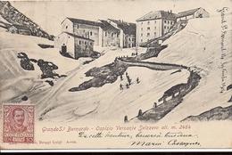 ITALIE SUISSE Grande St Bernardo (Grand Saint Bernard ) Magnifique Carte 1904 Voir Verso Cachet - Non Classés