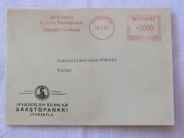 Finland 1958 Cover Jyvaskyla To Turku - Machine Franking - Covers & Documents
