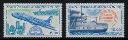 St.Pierre Et Miquelon // 1987 //  Poste Aérienne No.64-65 Y&T  Timbres Neufs ** MNH (sans Charnière) - Poste Aérienne