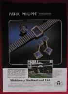 PATEK PHILIPPE WATCHES -ORIGINAL  1978 MAGAZINE ADVERT - Sonstige