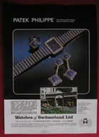 PATEK PHILIPPE WATCHES -ORIGINAL  1978 MAGAZINE ADVERT - Advertising