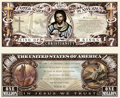 USA - FANTASY NOTE -  THE  CHRISTIANITY  - UNC - United States Of America