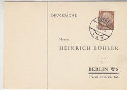 B&M Köhlerkarten Aus Johannesthal + EBENAU - Occupation 1938-45