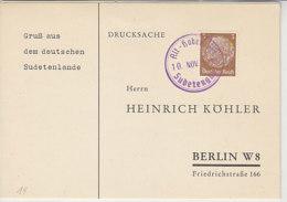 B&M Köhlerkarten Aus ALT-HABENDORF + SCHWADERBACH - Occupation 1938-45