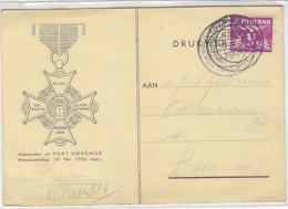 Karte Vom 10.5.34 Aus FORT HONSWIK / Rückseite - Covers & Documents