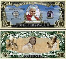 USA - FANTASY NOTE -  POPE  JOHN  PAUL  II , 2005  - UNC - United States Of America
