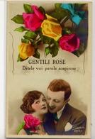 Coppia Innamorati - Gentili Rose - Formato Piccolo Viaggiata Mancante Di Affrancatura – Fe1 - Coppie