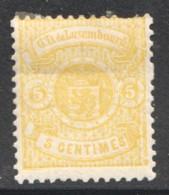 Prifix 29a 5 Cent Jaune Foncé * Signé  2 Dents Manquantes - 1859-1880 Coat Of Arms