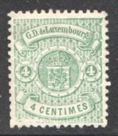 Prifix 28  4 Cent. Vert * - 1859-1880 Wappen & Heraldik