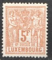 Prifix 58  5 Fr.  Signé Stolow  * - 1882 Allégorie