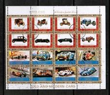 AJMAN  Scott # UNLISTED 1972 VF OLD & MODERN CARS MINI SHEET Of 16 (LG-1093) - Ajman