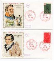 FDC France 1972 - Croix Rouge 1972 - N. Desgenette YT 1735 & F. Broussais YT 1736 - 70 Luxeuil Les Bains - FDC