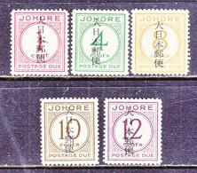 JAPANESE  OCCUPATION  JOHORE  N J  6-10      ** - Groot-Brittannië (oude Kolonies En Protectoraten)