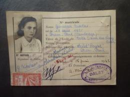 INDOCHINE CARTE D'IDENTITE Phnom Penh Cambodge CACHET Et Timbre TAXE DE VILLE DE DALLAT  1942  Mai 2019 Clas Let - Cartes