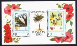Fiji Birds LONDON '90 2v MS MNH SG#MS810 SC#623 - Fiji (1970-...)