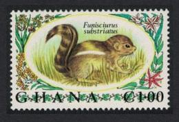 Ghana De Winton's Tree Squirrel 1v 1.00 Key Value MNH SG#639 - Ghana (1957-...)