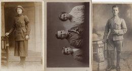 Military Soldier RGA 3x Portrait Incl Women & Cairo 1917 Postcard - War 1914-18
